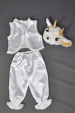 Детский костюм Козленок Козочка для мальчиков девочек 3-5 лет Костюм карнавальный козлик белый 342, фото 3