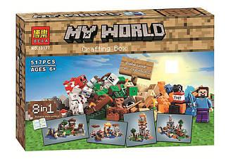 "Конструктор Minecraft 10177 ""Набір СRAFTING BOX 8 в 1"" 517 деталей"