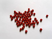 Бусина рондель 0,8*0,6 см Стекло Красные не прозрачные