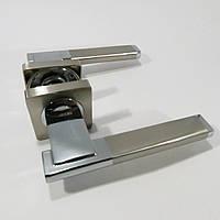 Ручка дверная Кедр R08.142 AL Сатин/Хром