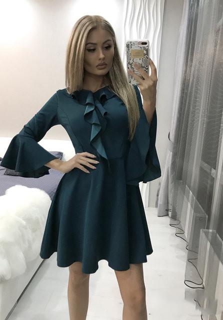 Платье женское короткое с воланами (К25469)