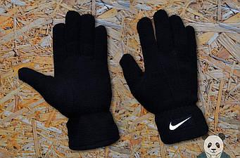 Теплые перчатки Nike черного цвета (люкс копия)