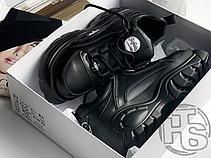 Женские кроссовки Buffalo Classic Low Leather Black 1339-14, фото 3