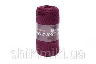 Трикотажный хлопковый шнур Cotton Filled 3 мм, цвет Бордовый