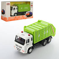Машинка 6512C, металл, инер-я, мусоровоз, 14см, 1:54, рез.колеса, в кор-ке, 16, 5-9-6см