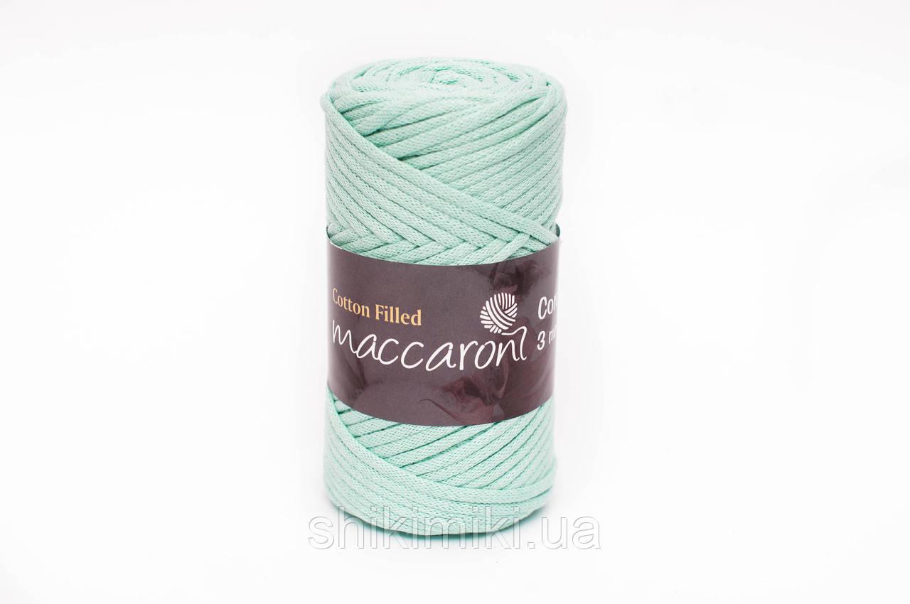 Трикотажный хлопковый шнур Cotton Filled 3 мм, цвет Ментол
