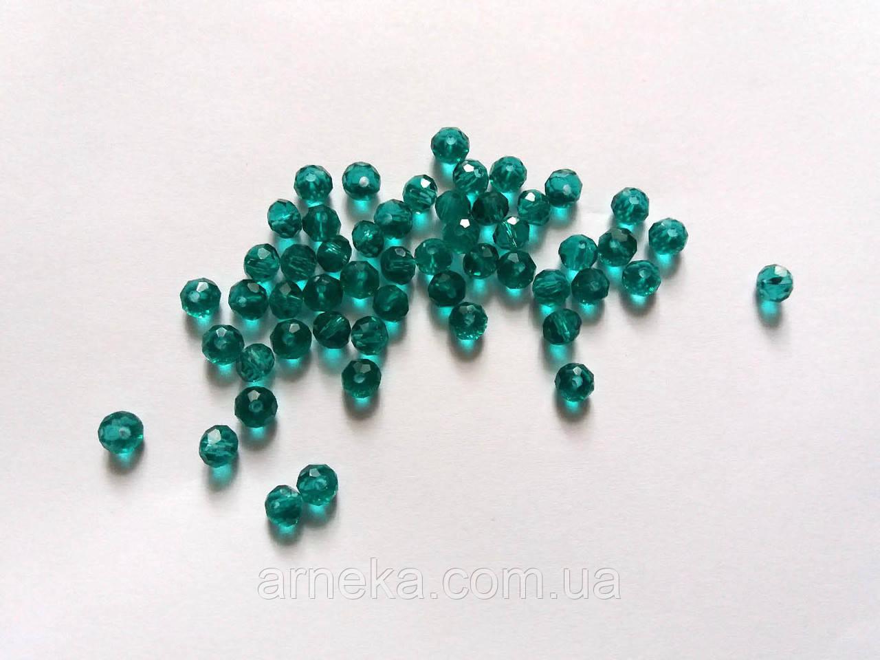 Намистина рондель 0,6*0,5 см Скло Малахітова
