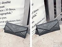 Женский серый кошелек с визитницей, фото 1
