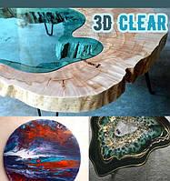Magic Crystal 3D Clear смола эпоксидная. Уп. 1,3 кг прозрачная. Для декора и украшений (компл. А+В)