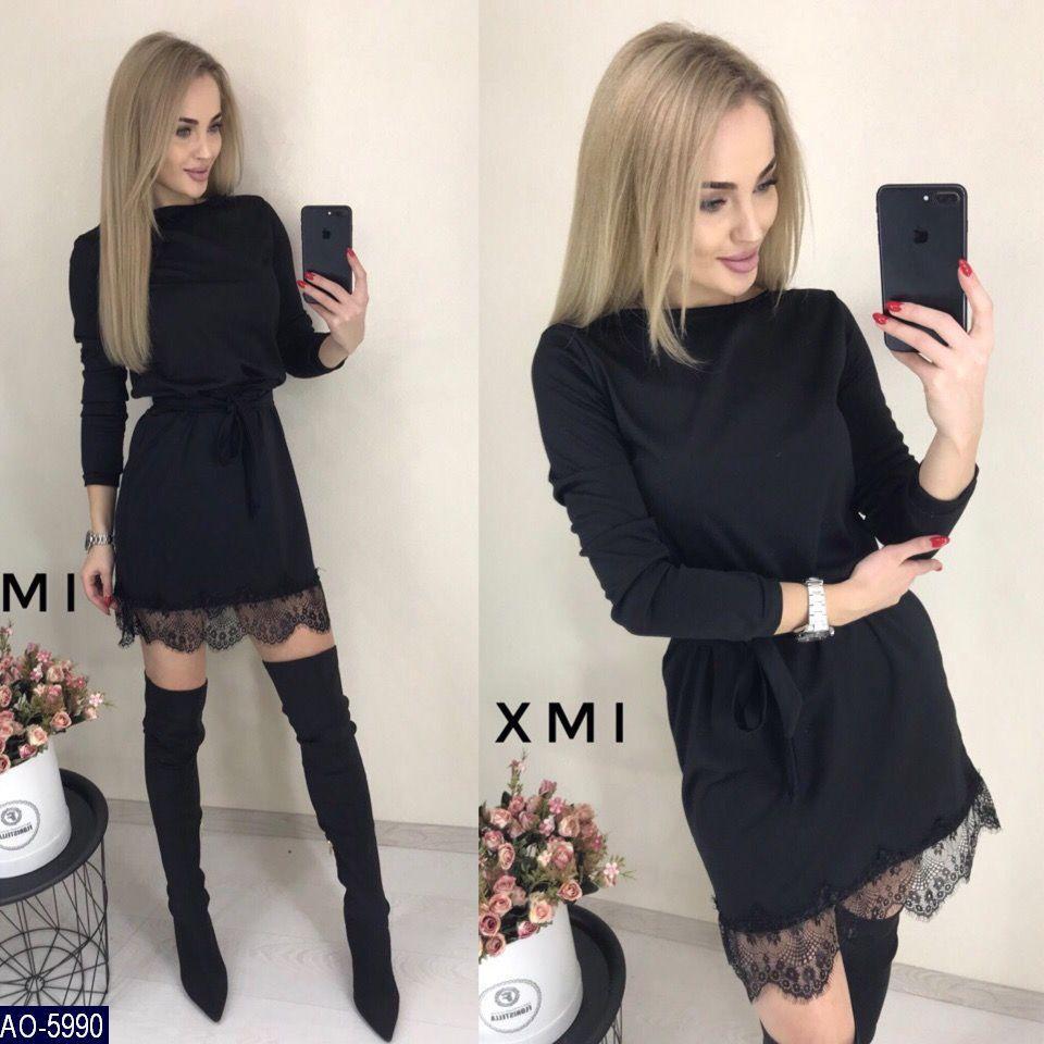 26bc2fe9d6c Женское трикотажное красивое нарядное мини платье с кружевом