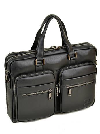 Мужской кожаный портфель черный BRETTON BE 5359-1 черный, фото 2