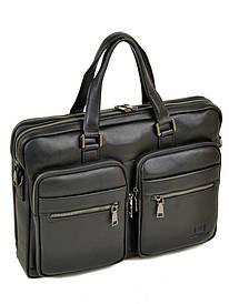 Мужской кожаный портфель черный BRETTON BE 5359-1 black