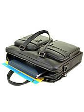 Мужской кожаный портфель черный BRETTON BE 5359-1 черный, фото 3