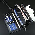 Стильный мужской кожаный клатч, кошелек. Черный. Baellerry Active. Балери, фото 8