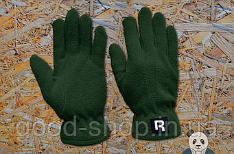 Теплые перчатки Reebok зеленого цвета (люкс копия)
