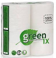 Туалетний папір біла двошарова з перфорацією. 100% целюлоза 20 м в рулоні. В уп. 4 шт (Green ix)