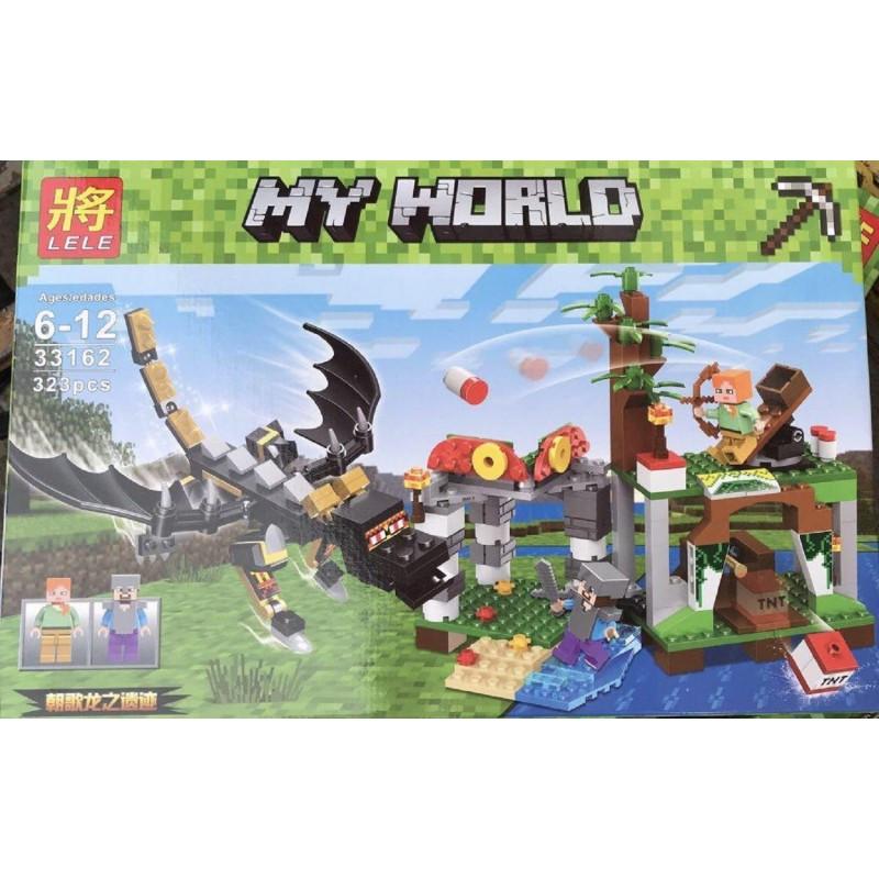 """Конструктор Minecraft Lele 33162 """"Нападение дракона"""" 323 деталей"""