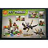 """Конструктор Minecraft Lele 33162 """"Нападение дракона"""" 323 деталей, фото 2"""