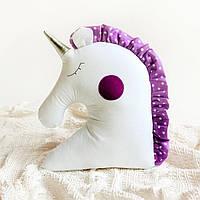 """Декоративная подушка """"Единорог"""", фиолет"""
