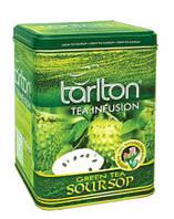 Чай зелёный Tarlton с соусепом Soursop 250 г железная банка Тарлтон