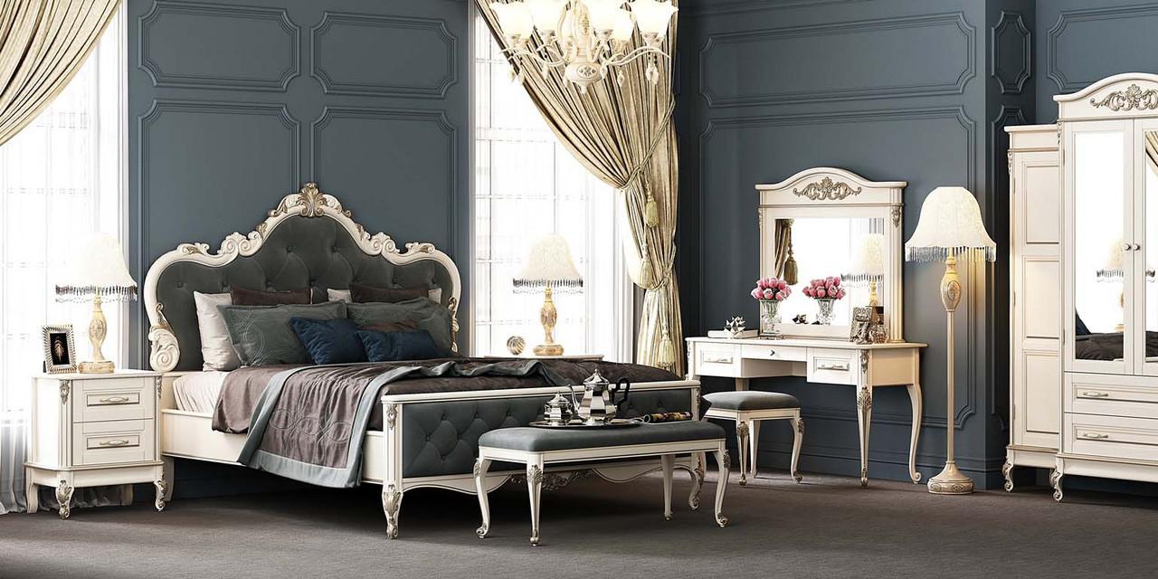 Спальня 1 Империя Мебус белая