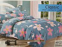 Евро размер комплект постельное Классик качество хорошее (наволочки 70х70)  цвета в ассортименте