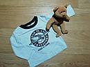 Тройка на мальчика жилетка, реглан и джинсы Peanut Buttons Размер 12 мес, фото 4