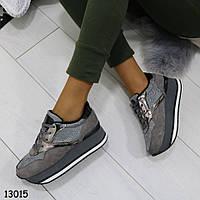 Модные кроссовки сникерсы теплые женские р. 37, 38, 39, 40, 41, фото 1