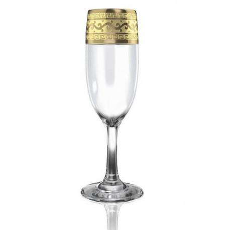 """Набор бокалов 190 мл для шампанского EAV08-419 рисунок """"Новый Версаче"""" 6 шт."""