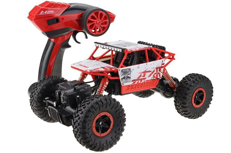 Радиоуправляемый Rock Crawler 4X4 красный 1:18