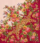 """Платок шерстяной с просновками и шелковой бахромой """"Изысканная"""", вид 5, 146x146 см, фото 2"""