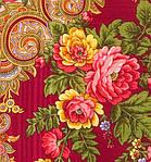 """Платок шерстяной с просновками и шелковой бахромой """"Изысканная"""", вид 5, 146x146 см, фото 3"""
