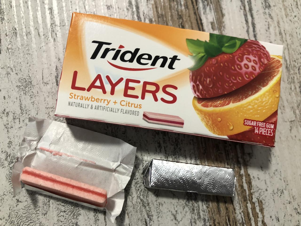Жвачка-сэндвич Trident Layers Клубника-цитрус
