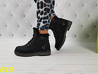 Ботинки зимние тимбер черные женские р.  36, 37, 39, фото 1