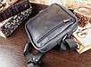 Мужская сумка ручной работы из натуральной кожи Классик цвет черный, фото 4