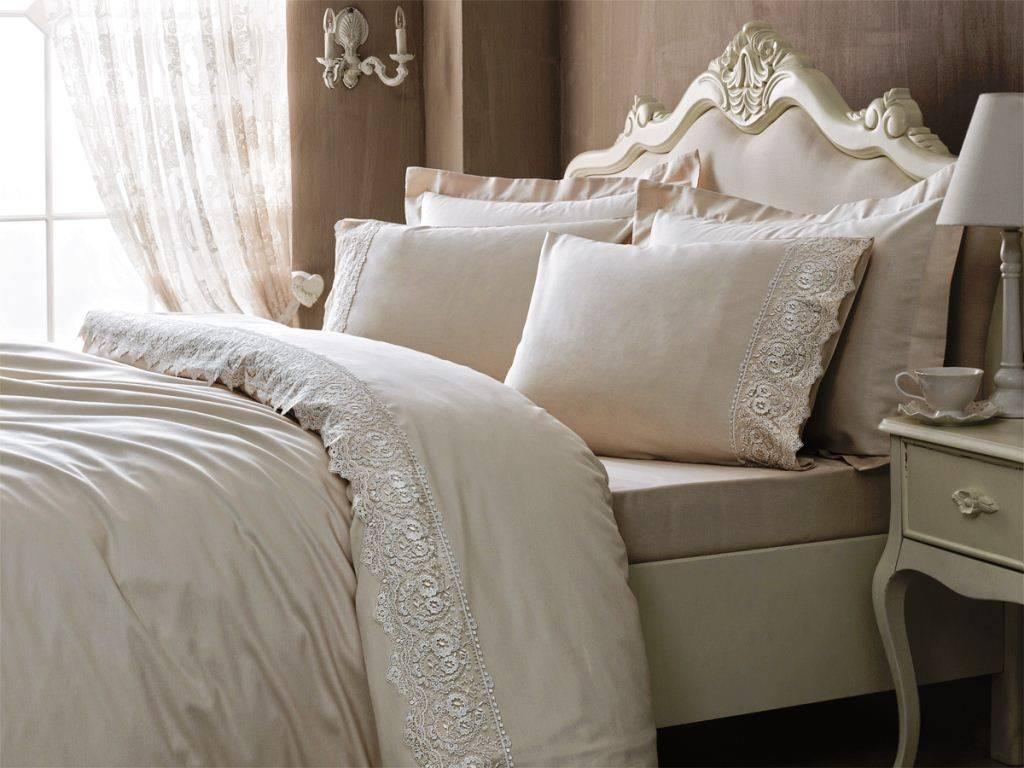 Комплект постельного белья Tivolyo Home ELEGANT семейный (2 пододеяльника), розовый