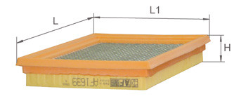 Фильтр воздушный Alpha Filter AF1639S (AP 154)