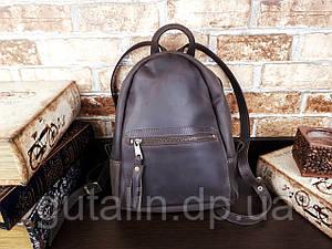 Женский рюкзак ручной работы из натуральной кожи цвет коричневый
