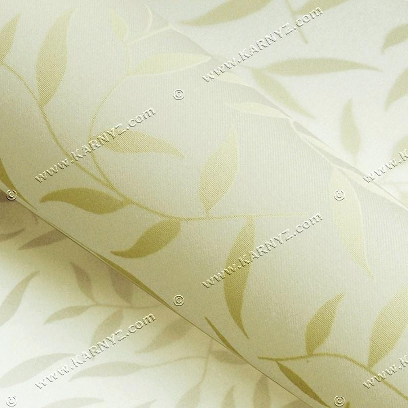 Рулонные шторы Шелк листочки бежевый