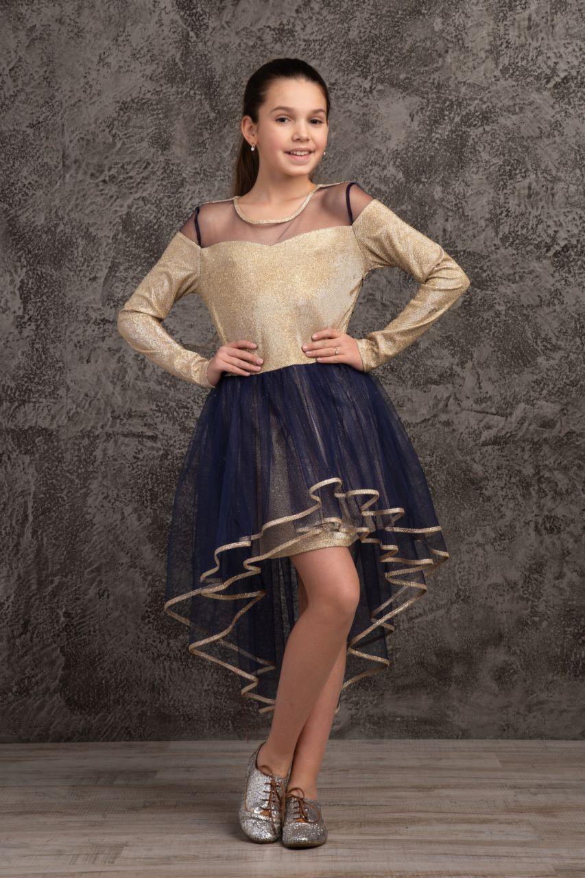 Детское нарядное платье  для девочки Лина, размеры 140-158