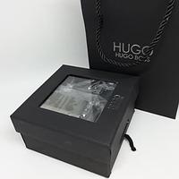Пояс мужской Hugo Boss с двумя пряжками, ремень, подарочный набор для мужчины