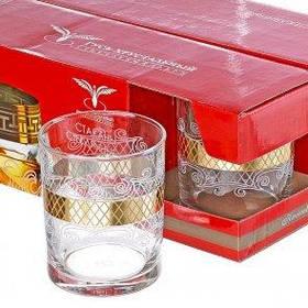 """Набор стаканов для виски 255 мл рис""""Винтаж"""" EAV25-405"""
