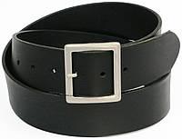 8137a5409fa9 Гладкий мужской кожаный ремень под джинсы, Vanzetti, Германия, 100082  черный, 4,
