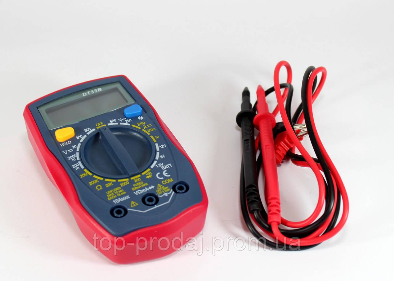 Мультиметр DT UT33B UNI-T, Измерительный прибор, Карманный мультметр, Тестер, Измеритель, Цифровой мультиметр