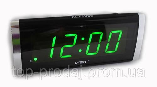 a3411fb73adb Часы VST 730 Green, Часы с будильником, Светодиодные настольные часы,  Цифровые часы,