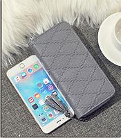 Женский серый кошелек портмоне на молнии , фото 1