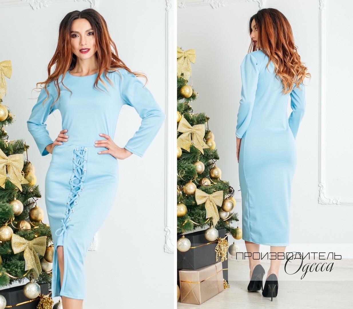 Женское платье Шнуровка