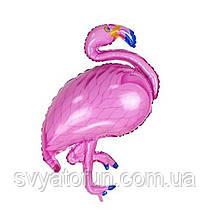 Фольгированный мини-шар Фламинго розовый Китай