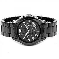 Керамические часы Emporio Armani цвет корпуса черный, класс ААА
