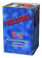 Клей обувной для ремонта обуви Wellbond W38 наирит, 14 кг